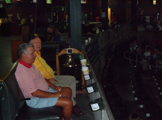 Peter Bragan Jr. (right) at the Baseball Grounds of Jacksonville, 2012