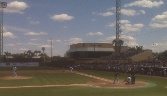 March 14, 2010. Tampa Bay Rays vs. Detroit Tigers.