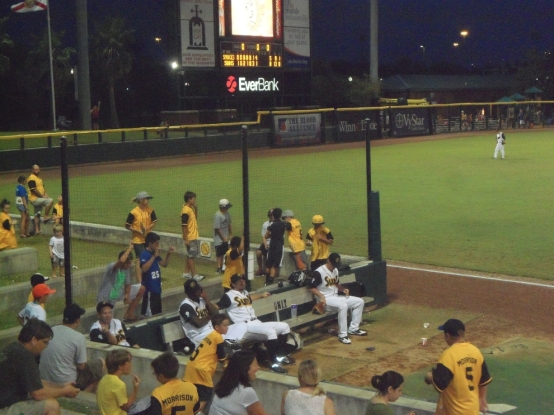 At Jacksonville Suns games, impudent children are shamed, much like Hester Prynne, with Logan Morrison jerseys.