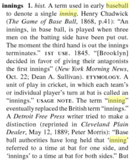 innings